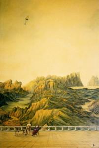 Aspettando Leonardo/Waiting for Leonardo, 1996, oils on canvas, 60 x 90 cm